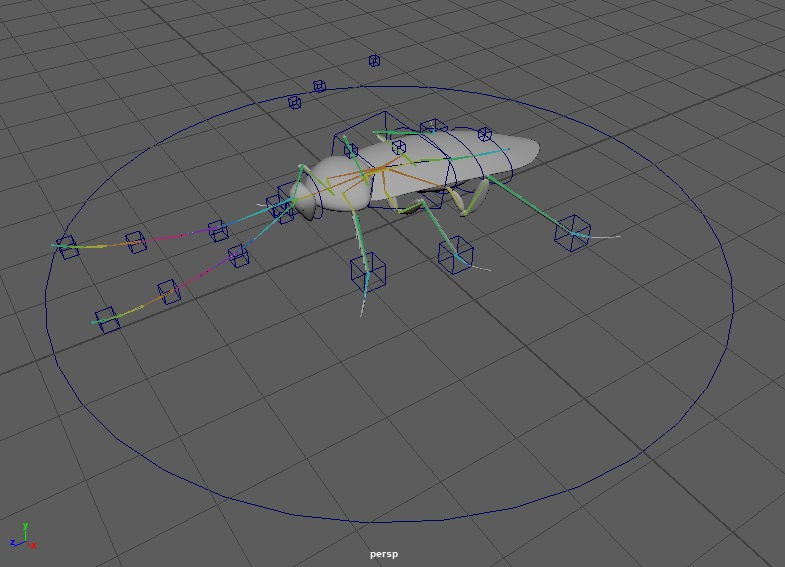 Cockroach Rig 3d rendering