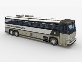 Old Prison Bus 3d preview