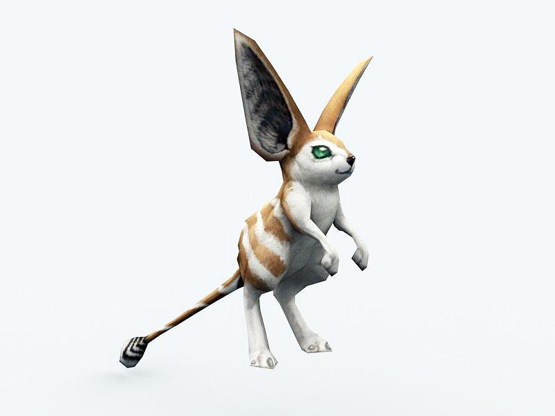 Cute Baby Kangaroo 3d rendering
