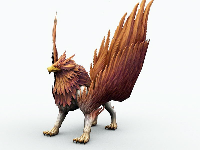 Griffin Creature 3d rendering