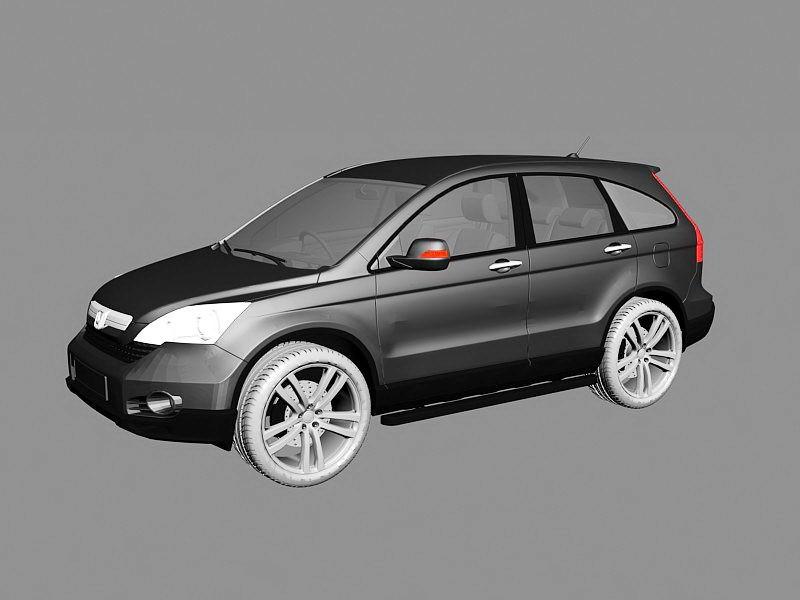 Hongda CR-V 2010 3d rendering