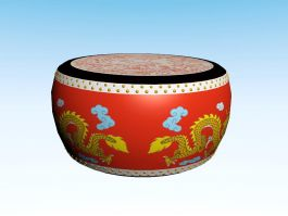 Chinese Drum 3d preview