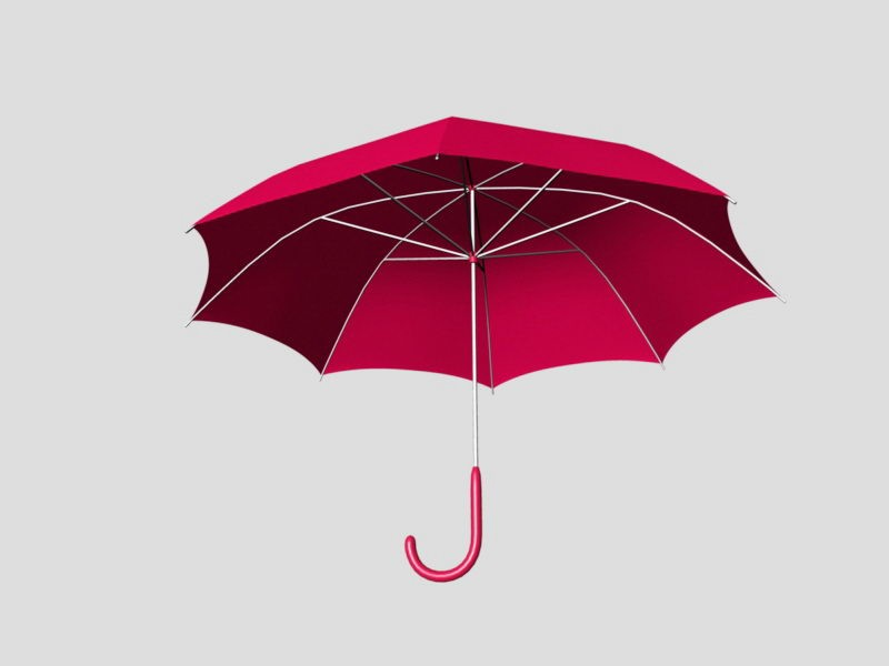 Red Umbrella 3d rendering