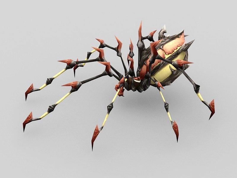 Anime Spider Monster 3d rendering