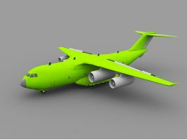 Green Transport Plane 3d preview