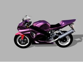 Purple Motorcycle 3d model preview