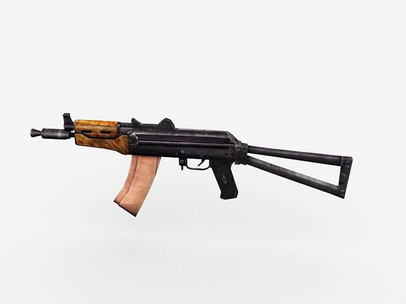 AKS-74U Automatic Carbine 3d rendering