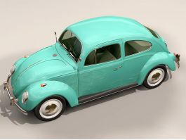Vintage VW Beetle 3d preview