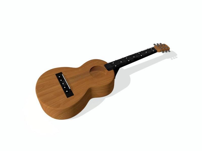 Old Guitar 3d rendering