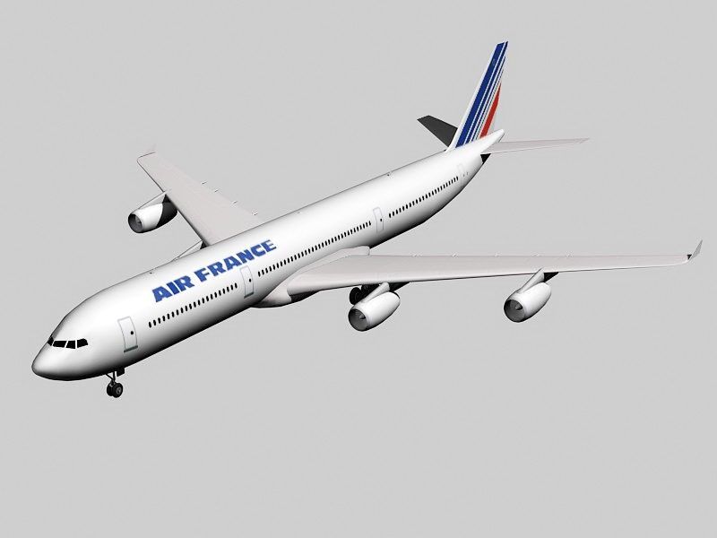 Airbus A340-300 Jet Airliner 3d rendering