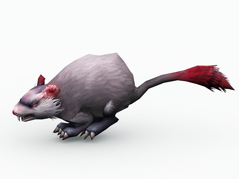 Animated Mouse Monster 3d rendering