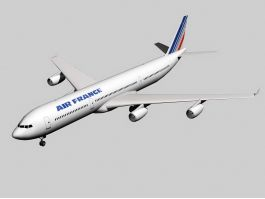Airbus A340-300 Jet Airliner 3d preview