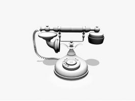Old Telephone 3d preview