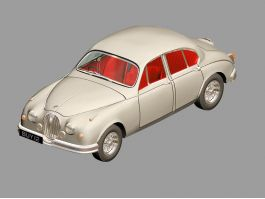 Classic Jaguar Car 3d preview