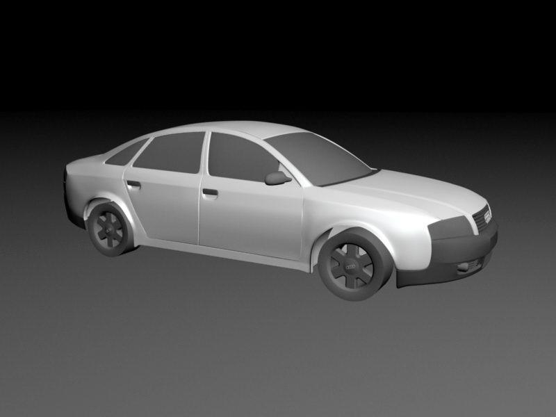 Audi A6 3d rendering