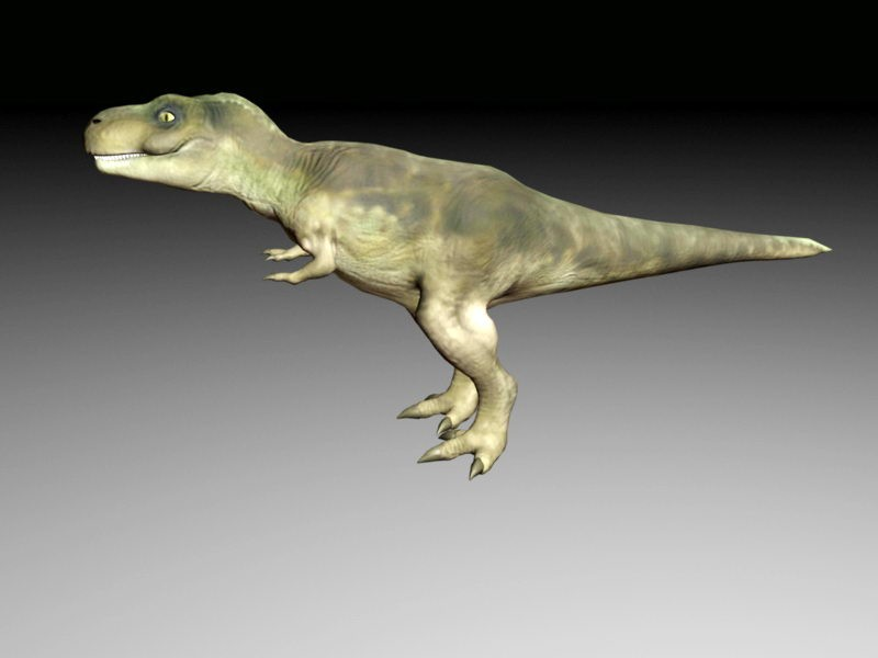 Tyrannosaurus Rex Rig 3d rendering