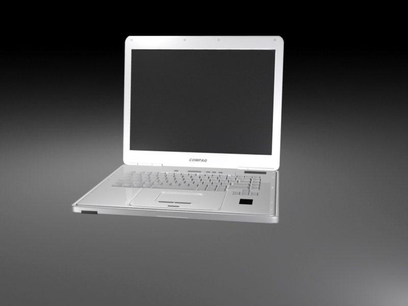 Compaq Laptop 3d rendering