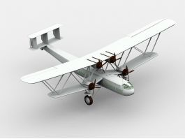 Biplane Airplane 3d preview