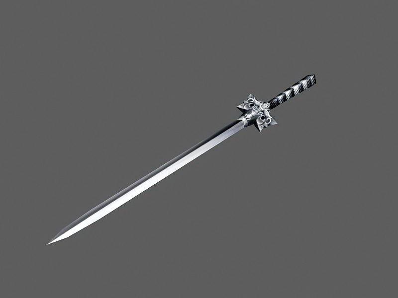 Dark Steel Sword 3d rendering