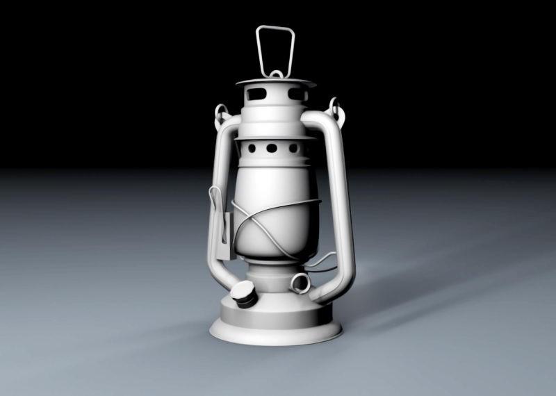 Old Kerosene Lantern 3d rendering
