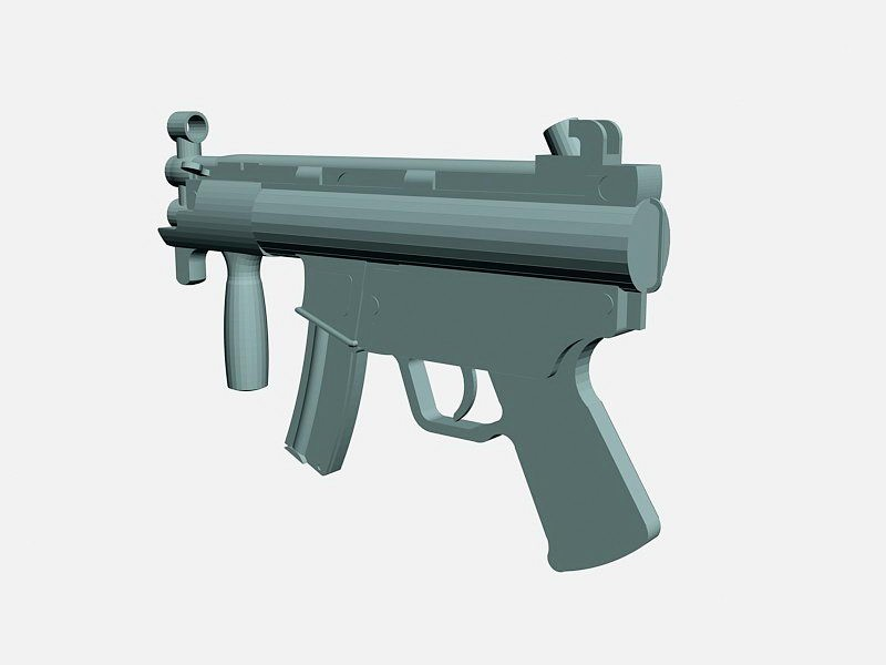 MP5K Submachine Gun 3d rendering