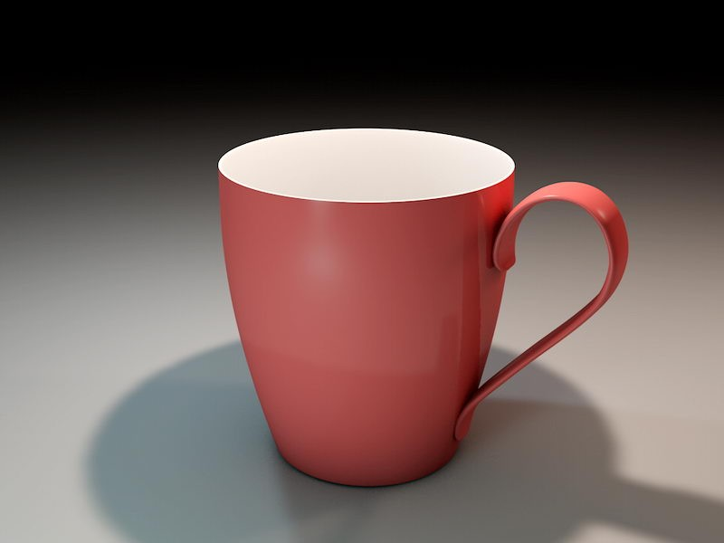 Red Coffee Mug 3d rendering