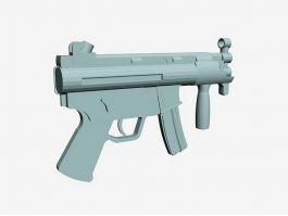 MP5K Submachine Gun 3d preview