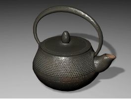 Old Cast Iron Teapot 3d preview