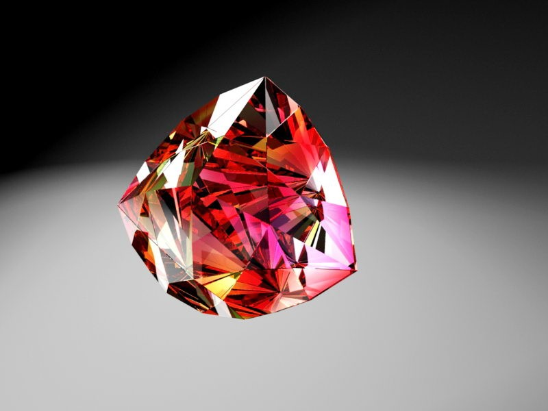 Ruby Diamond 3d rendering