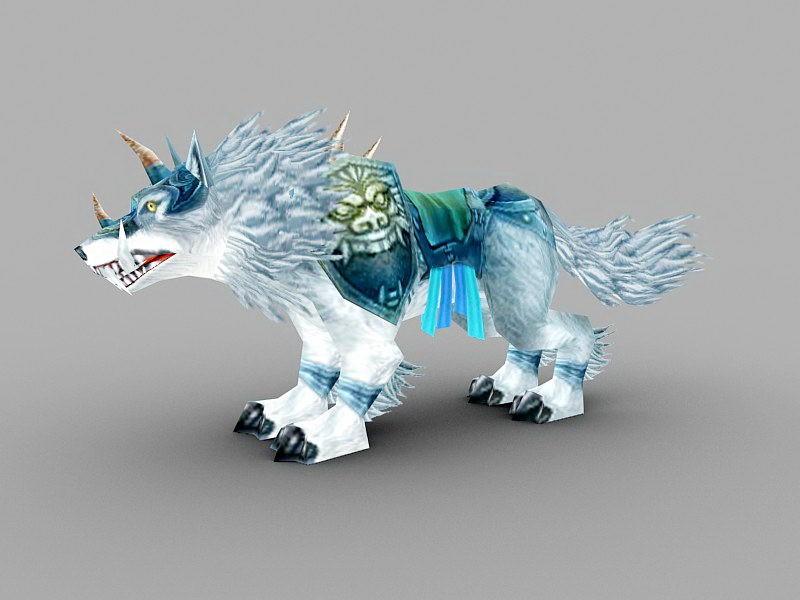 Frostwolf Mount 3d rendering