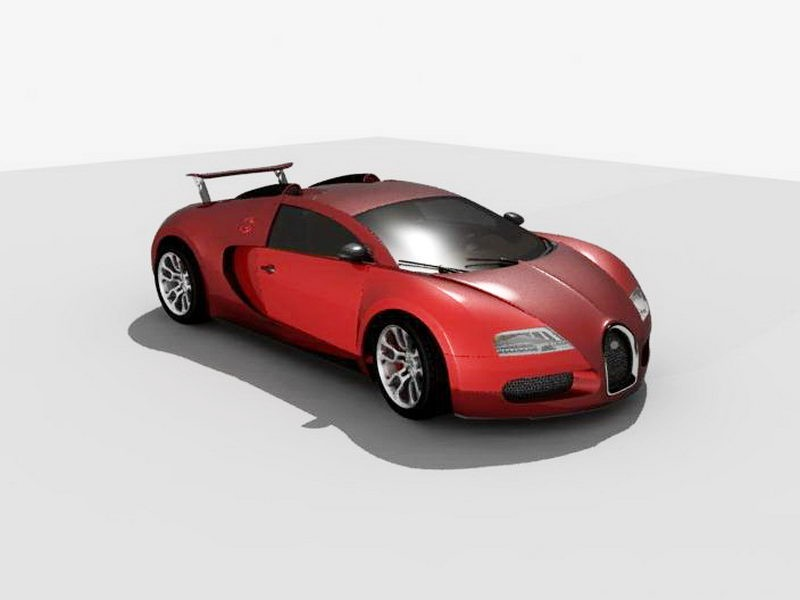 Bugatti Veyron Grand Sport Car 3d rendering