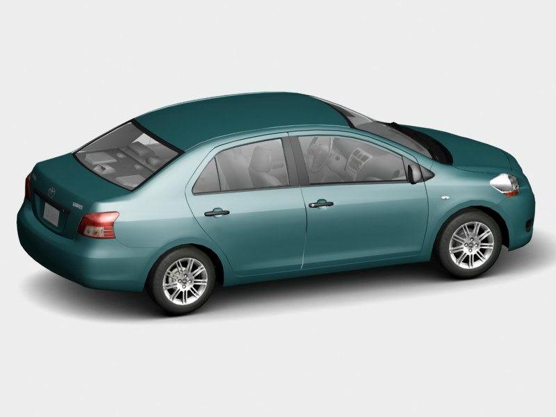 Toyota Yaris Sedan 3d rendering