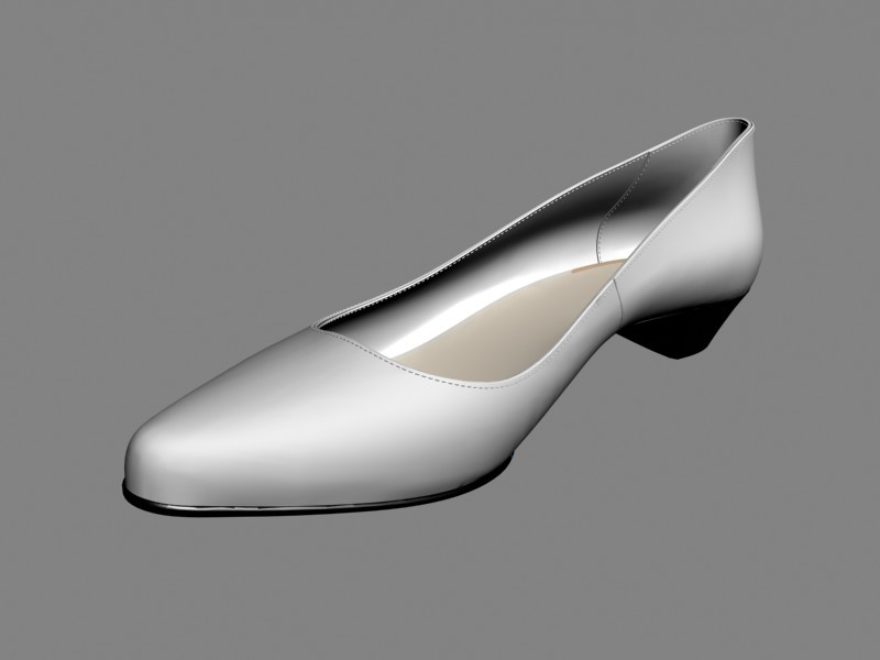 White Court Shoes 3d rendering