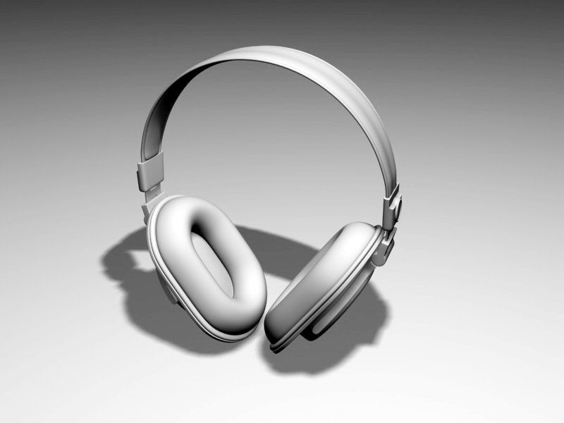 Cordless Headphones 3d rendering