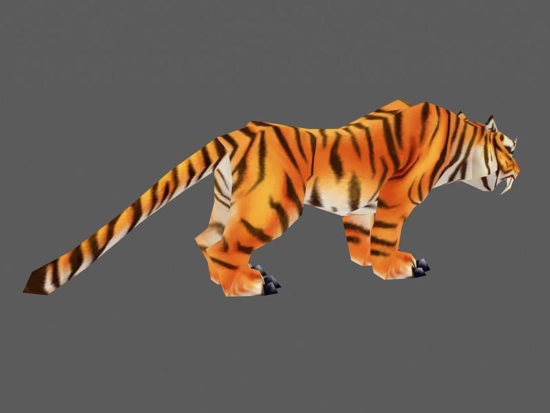 Bengal Tiger 3d rendering