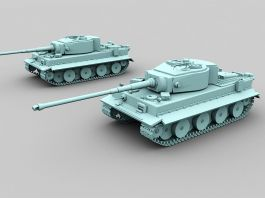 German Tiger Tank 3d preview