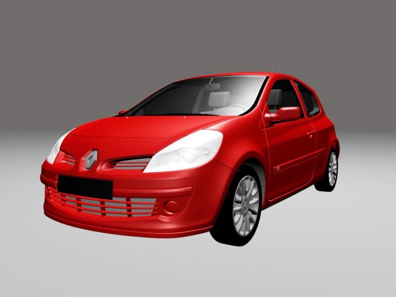 Renault Clio Sport 3d rendering