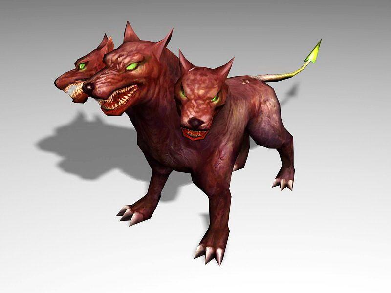 Cerberus Legendary Creature 3d rendering
