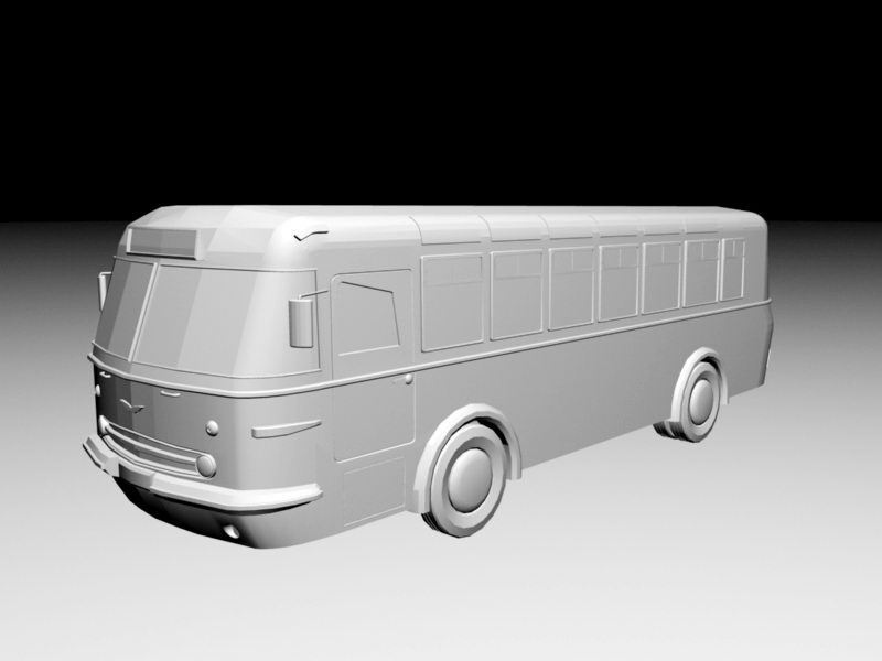 Old Bus 3d rendering