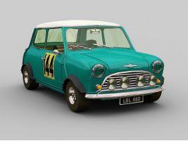 Vintage Mini Cooper 3d preview