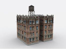 Old City Apartment Buildings 3d preview