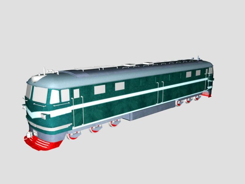 DF Diesel-Electric Locomotive 3d rendering