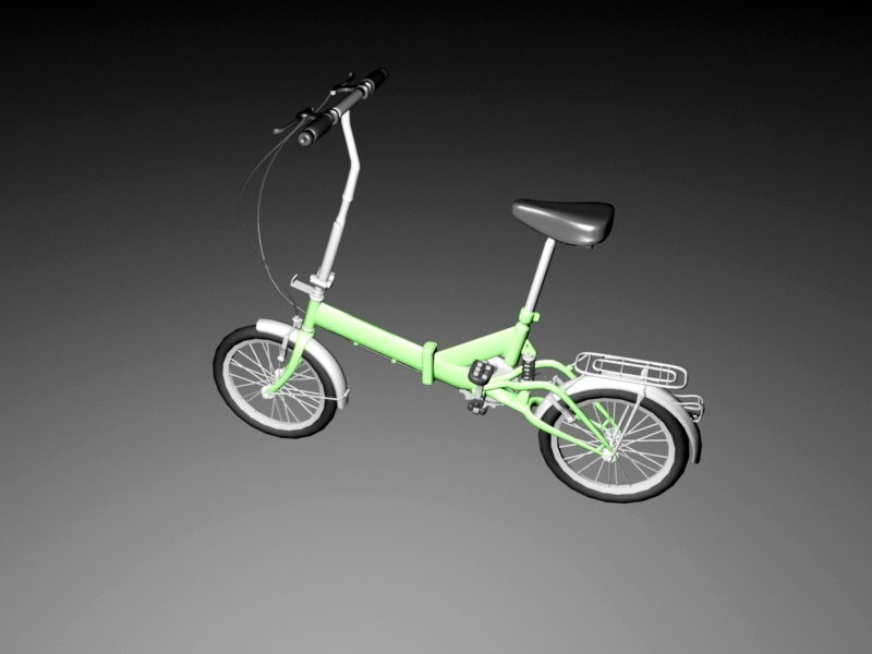 Small Mini Bicycle 3d rendering