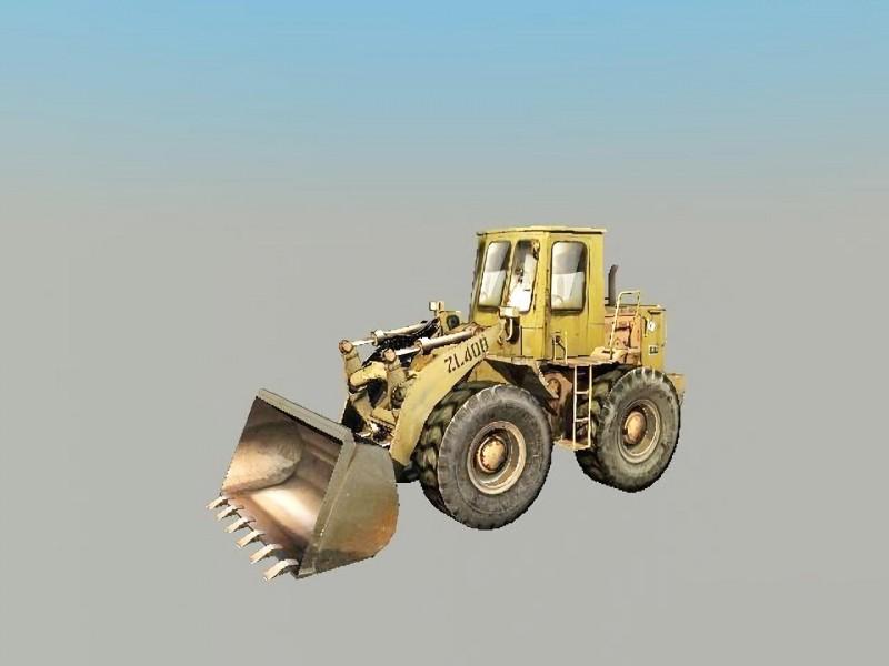 Old Bulldozer 3d rendering