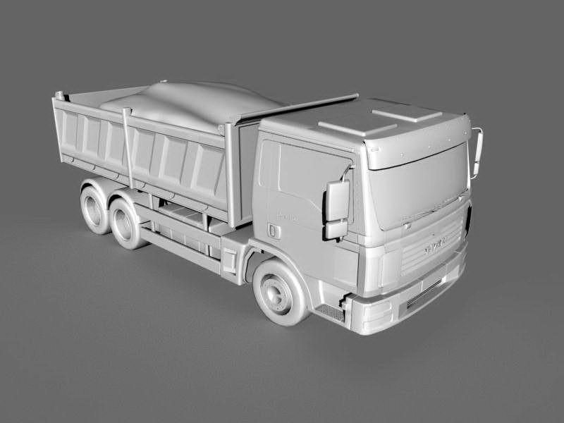 Big Dump Truck 3d rendering