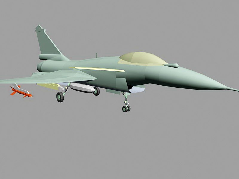 J-10B Multirole Fighter Aircraft 3d rendering