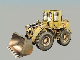 Old Bulldozer 3d preview