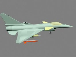 J10B Multirole Fighter Aircraft 3D Model