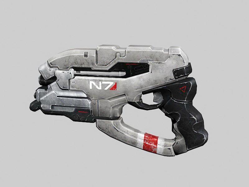 Sci-Fi Laser Pistol 3d rendering