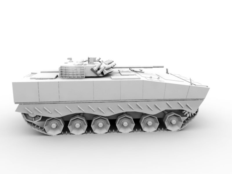 ZBD-04A Infantry Fighting Vehicle 3d rendering
